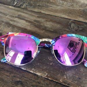 NET Pink Flower Sunglasses
